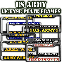 USArmy License Plate Frames