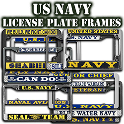 USN License Plate Frames