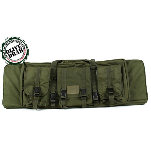 "Police Gun Case - 36"" - Black - Olive Drab - Tan"