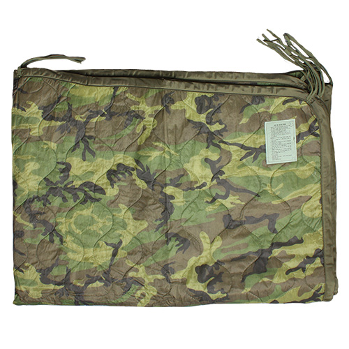 GI Issue Poncho Liner - Woodland Camo