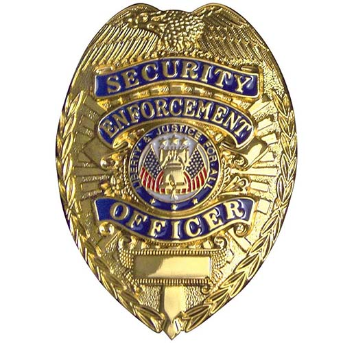 Deluxe Security Enforcement Officer Badge - Gold or Silver