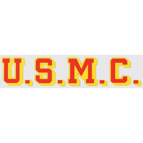 "U.S. Marines Decal - 10"" - ""U.S.M.C."" Strip"