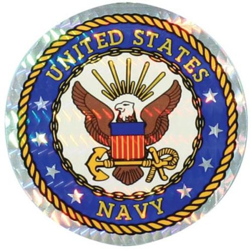 "U.S. Navy Decal - 3"" Prism - Seal of the U.S. Navy"