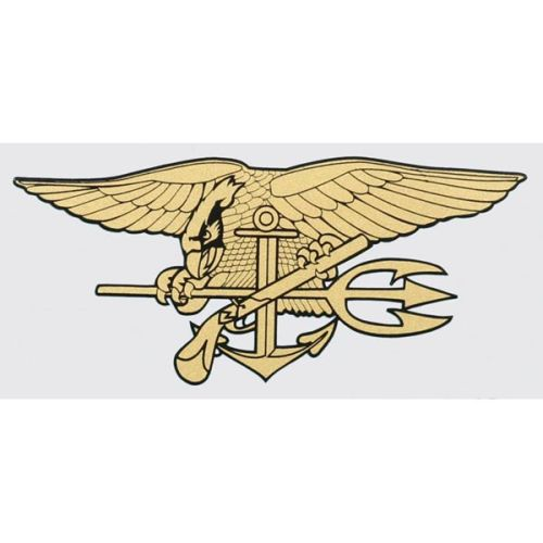 "U.S. Navy Decal - 2.5"" x 6"" - Navy Seal Trident"