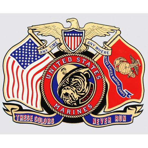 "U.S. Marines Decal - 4.8"" x 5"" - These Colors..."