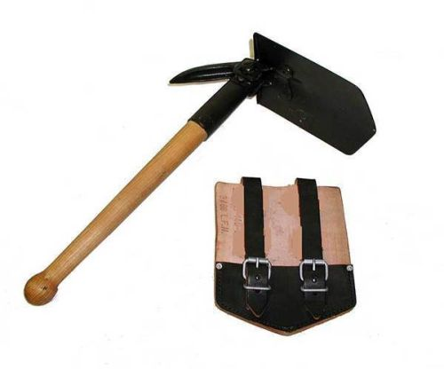 Folding Shovel with Pick & Cover