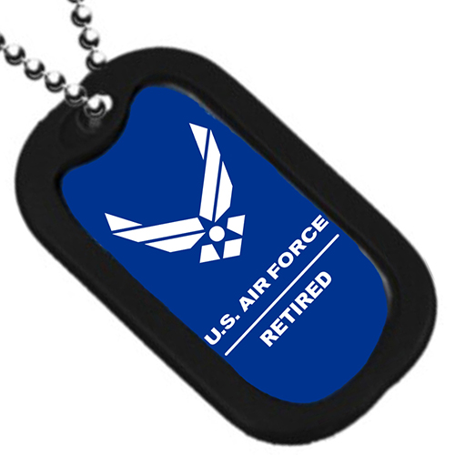 "United States Air Force Wings ""Retired"" Dog Tag"