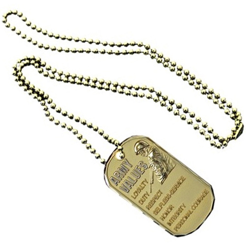 United States Army Values Bronze Dog Tag
