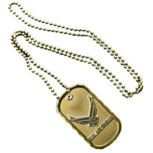 United States Air Force Service Emblem Dog Tag - Solid bronze