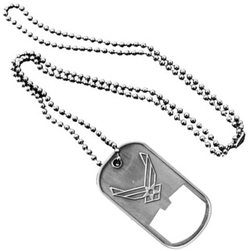 United States Air Force Dog Tag Bottle Opener