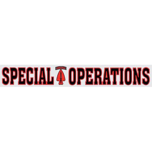 """U.S. Army Decal - 14"""" - """"Special Operations"""" Strip"""