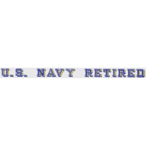 "U.S. Navy Decal - 20"" - ""U.S. Navy Retired"" Strip"