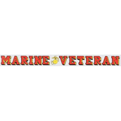 "Veteran Decal 18"" - ""Marine Veteran"" EGA"