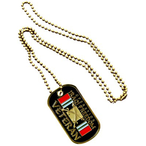 Operation Iraqi Freedom Gold Dog Tag