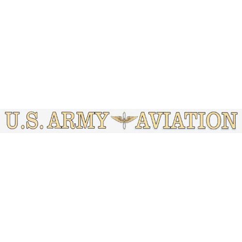 "U.S. Army Decal - 16"" - ""U.S. Army Aviation"" Strip"