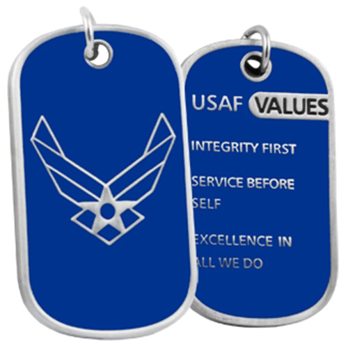 United States Air Force Values Dog Tag