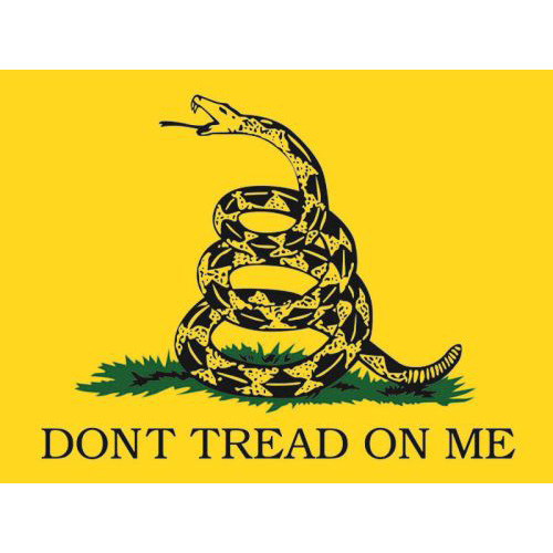 """Assorted Decal - 3"""" x 4"""" - """"Don't Tread On Me"""""""