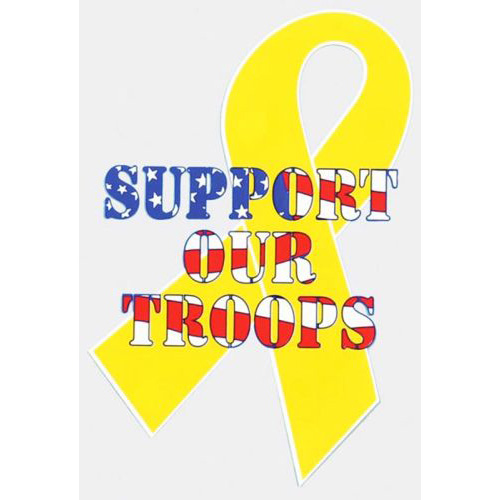 """Assorted Decal - 6"""" x 4"""" - Support Our Troops"""