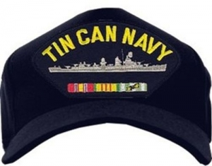 US Navy ID Ballcap - Tin Can Navy - Destroyer with Ribbons