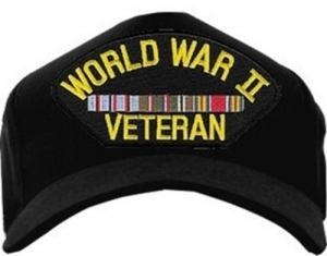 Veteran Ball Cap - WWII Veteran Europe with 3 Ribbons