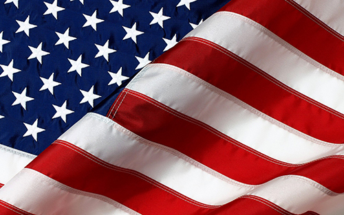 USA Flag- Embroidered 4' x 6'  Made In U.S.A.