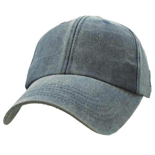 Ballcap - Blank - Navy Blue Distressed Cap