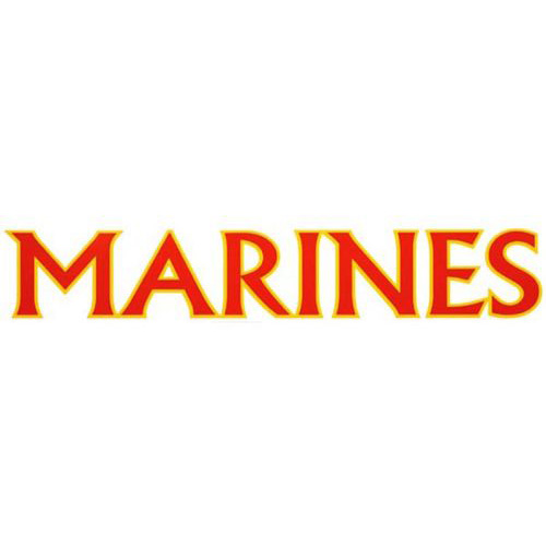 "U.S. Marines Decal - 15"" - ""MARINES"""
