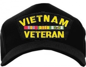 Veteran ID Ball Cap - Vietnam Veteran 3 Ribbons