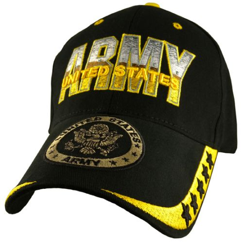 US Army Ballcap - Army with Gold Logo on Bill