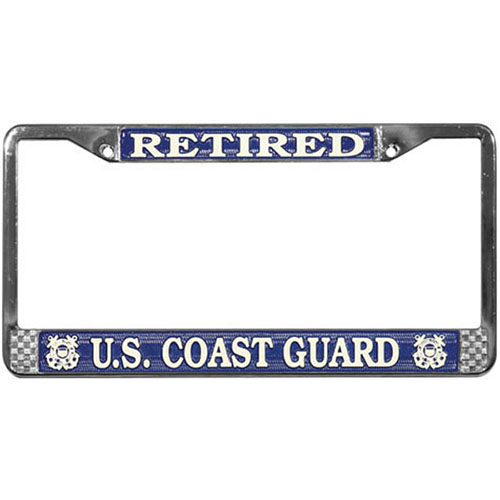 United States Coast Guard Retired License Plate Frame