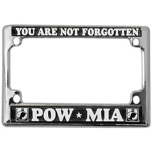 United States POW/MIA Gone but not Forgotten Motorcycle License Plate Frame