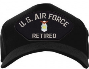 "USAF ID Ballcap - Retired ""U.S. Air Force"" with Emblem"