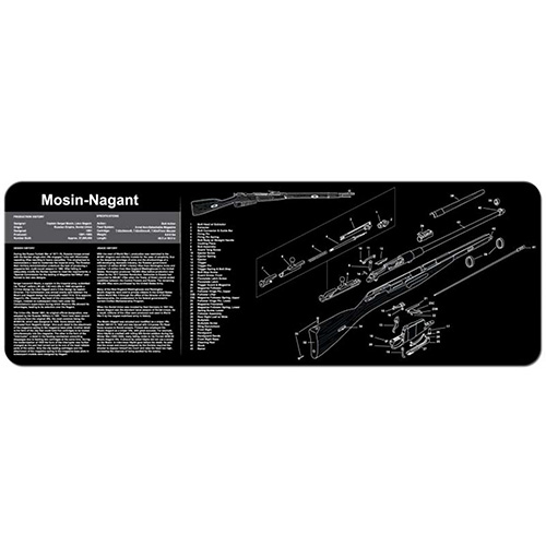 "TekMat Mosin Nagant Gun Cleaning Mat 12"" x 36"" Long - Black"