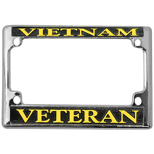 United States Vietnam Veteran Motorcycle License Plate Frame