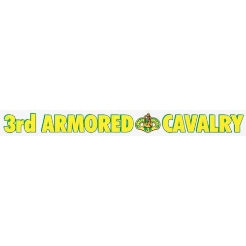 "U.S. Army Decal - 16"" - ""3rd Armored Cav"" Strip"