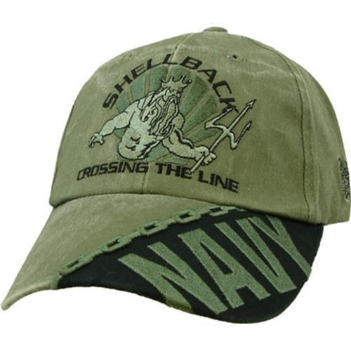 "US Navy Ballcap - Seals ""Shellback"" OD"