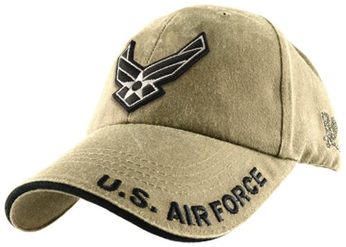 USAF Ballcap - Air Force with Wings - Khaki