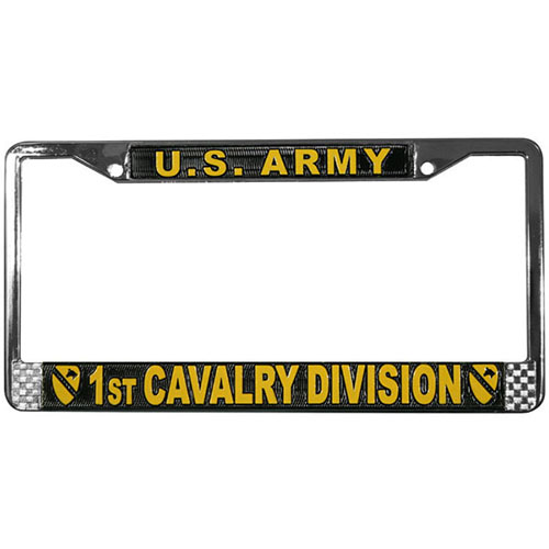 United States Army 1st Cavalry Division License Plate Frame