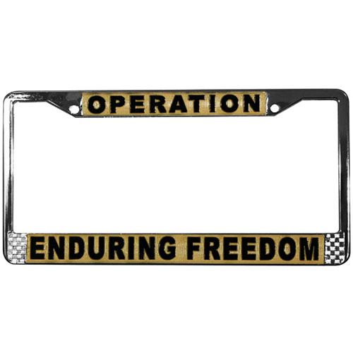 United States Operating Enduring Freedom License Plate Frame