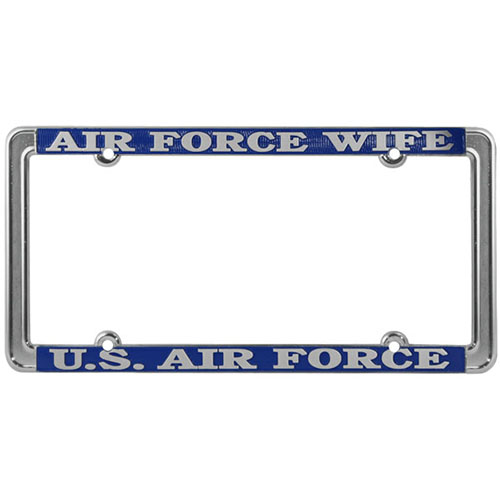United States Air Force Wife License Plate Frame