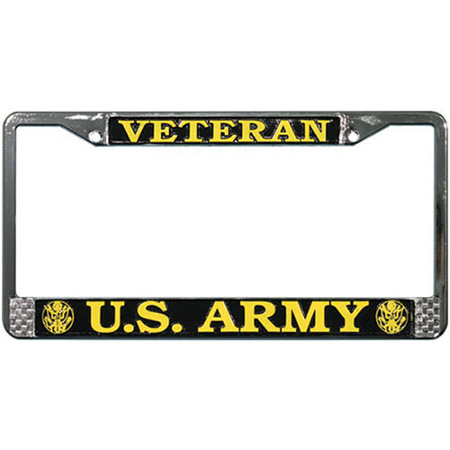 United States Army Veteran License Plate Frame