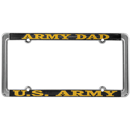 United States Army Dad License Plate Frame