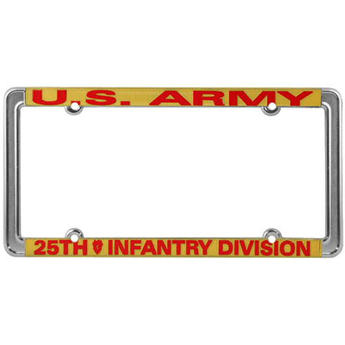 United States Army 25th Infantry Division License Plate Frame