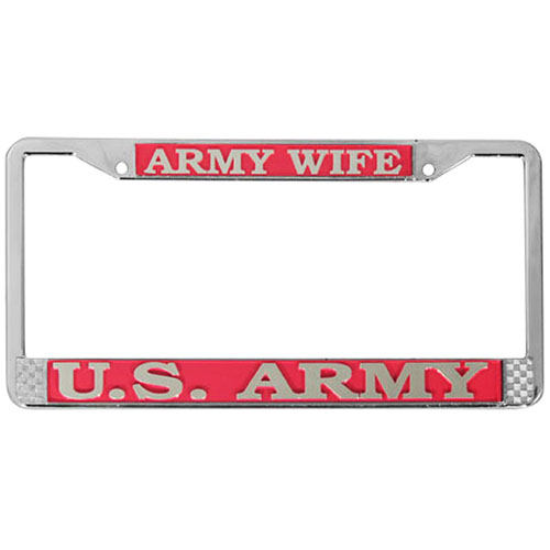 United States Army Wife License Plate Frame