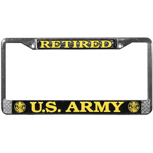 United States Army Retired License Plate Frame