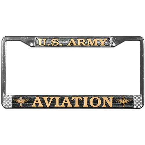 United States Army Aviation License Plate Frame
