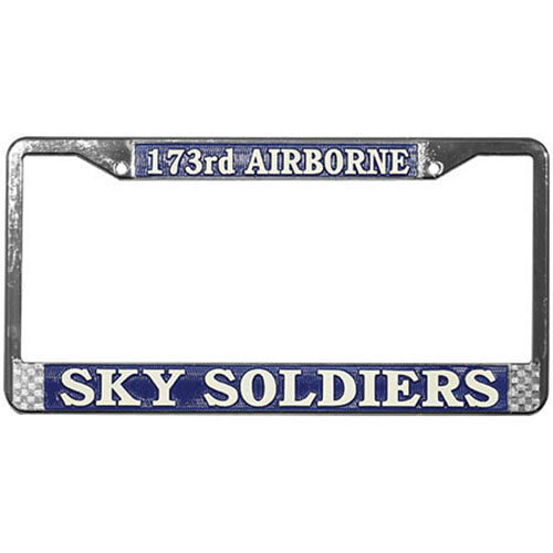 """United States Army 173rd Airborne """"Sky Soldiers"""" License Plate Frame"""