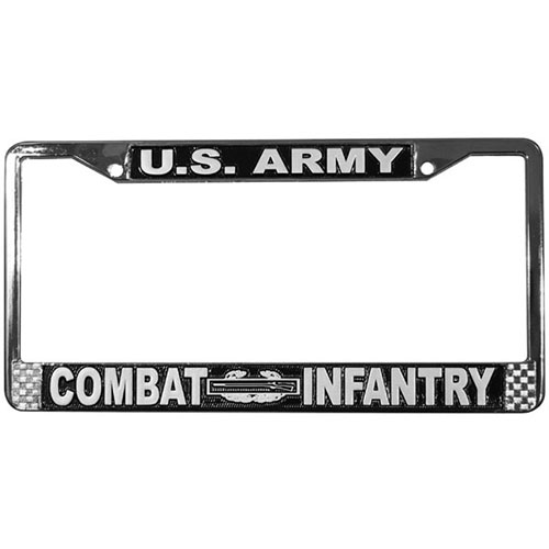 United States Army Combat Infantry License Plate Frame