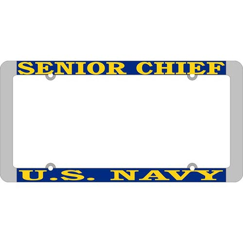 United States Navy Senior Chief License Plate Frame