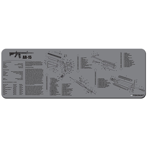 "TekMat AR15 Gun Cleaning Mat 12"" x 36"" Long - Grey"